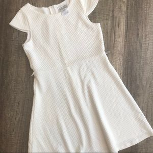 3/$30 White quilted dress